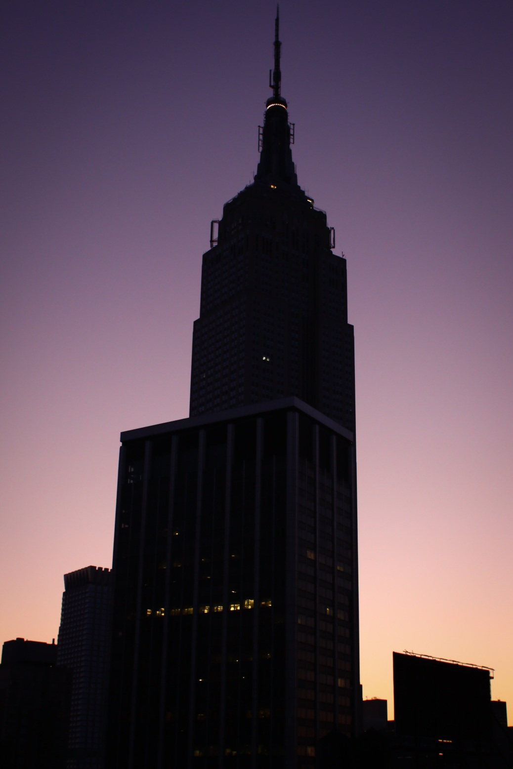 Empire State Buidling im Sonnenaufgang