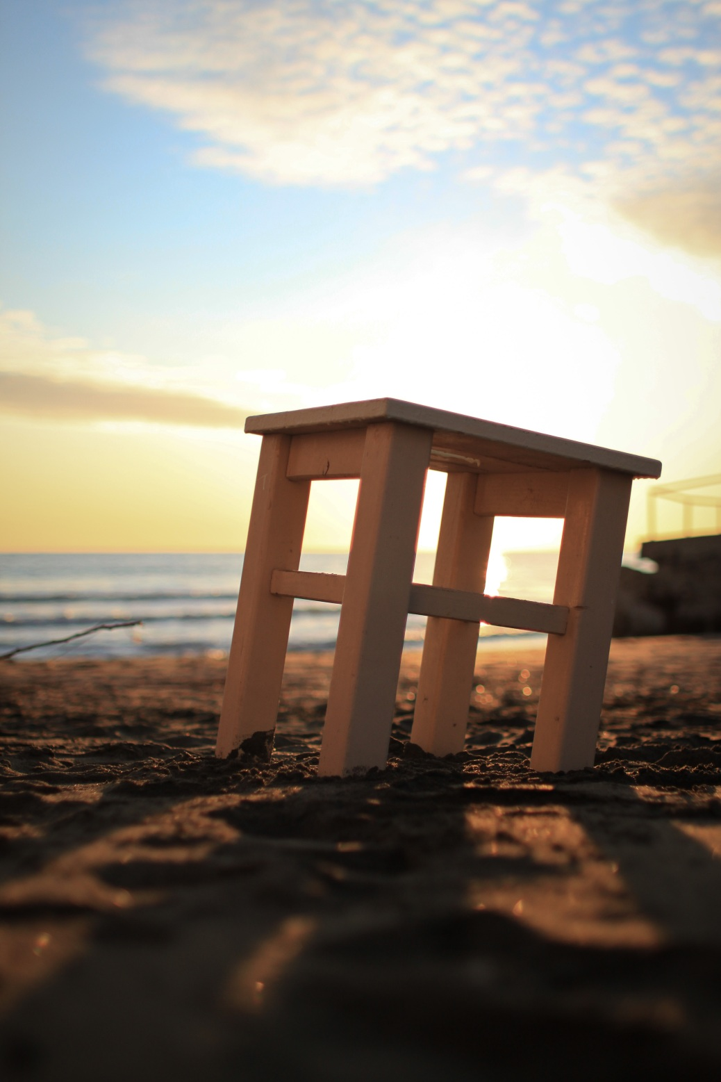Stuhl im Sand