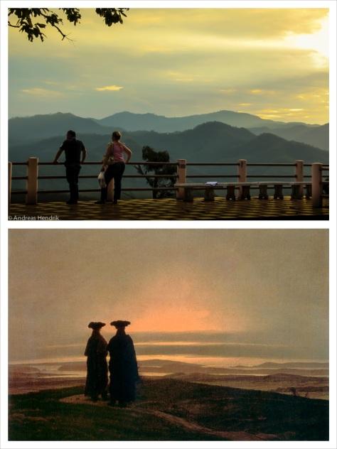 Sonnenuntergang nach  C.D. Friedirch Collage hoch