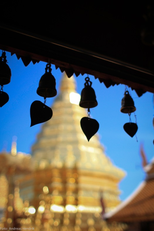 Thailand Chiang Mai, Heart, Bells & wishes in Chiang Mai Temple