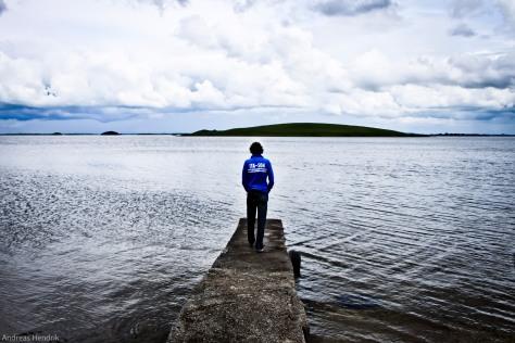 Irland, Mann am Steg