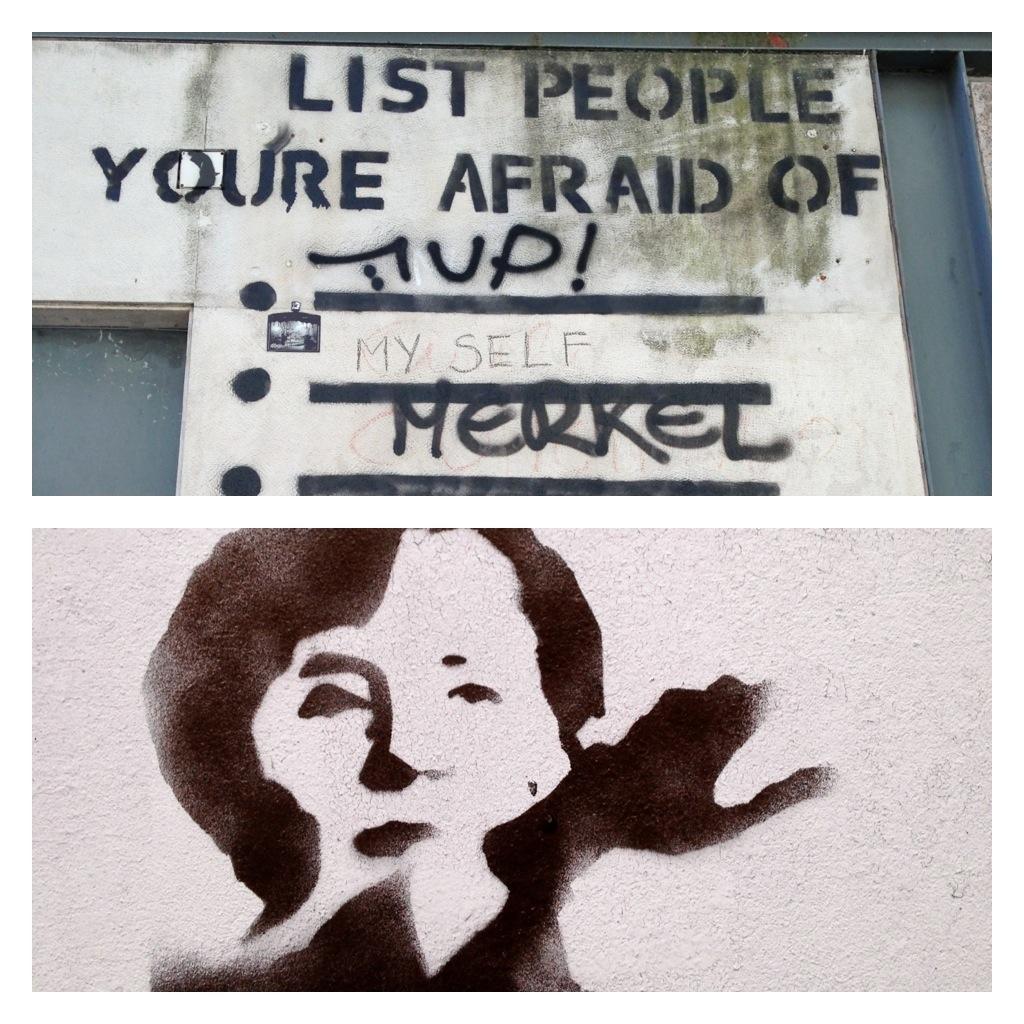 Graffiti Merkel Hitlergruß