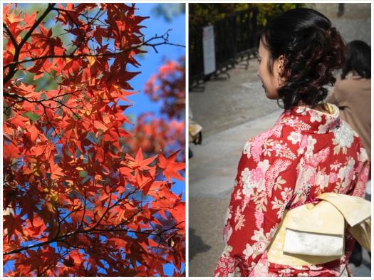 Big Red-Part II roter Ahorn_Frau mit Kimono_Foto_Collage