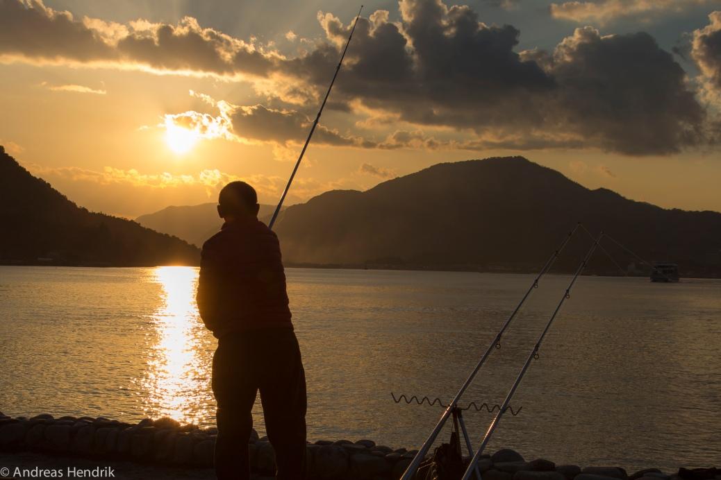 Fisherman on Miyajima Island