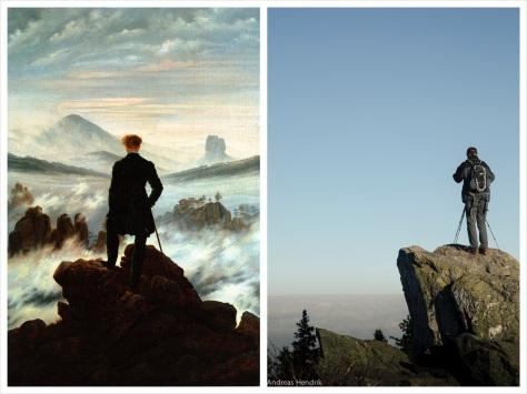 Wanderer über dem Nebelmeer |  C.D. Friedrich und ich